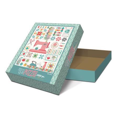 Stitch Quilt Puzzel 'My Happy Place' by Lori Holt - 1000 stukjes