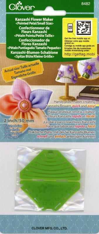 "Clover Quick Yo-Yo Maker 8482 - Kanzashi Flower Maker - Pointed Petal Small Size, 2"" - 50 mm"