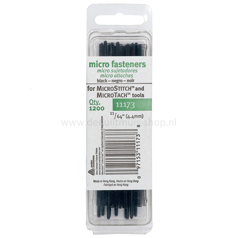 MicroStitch tags - Navulling - 4,4 mm - 1200 stuks - ZWART