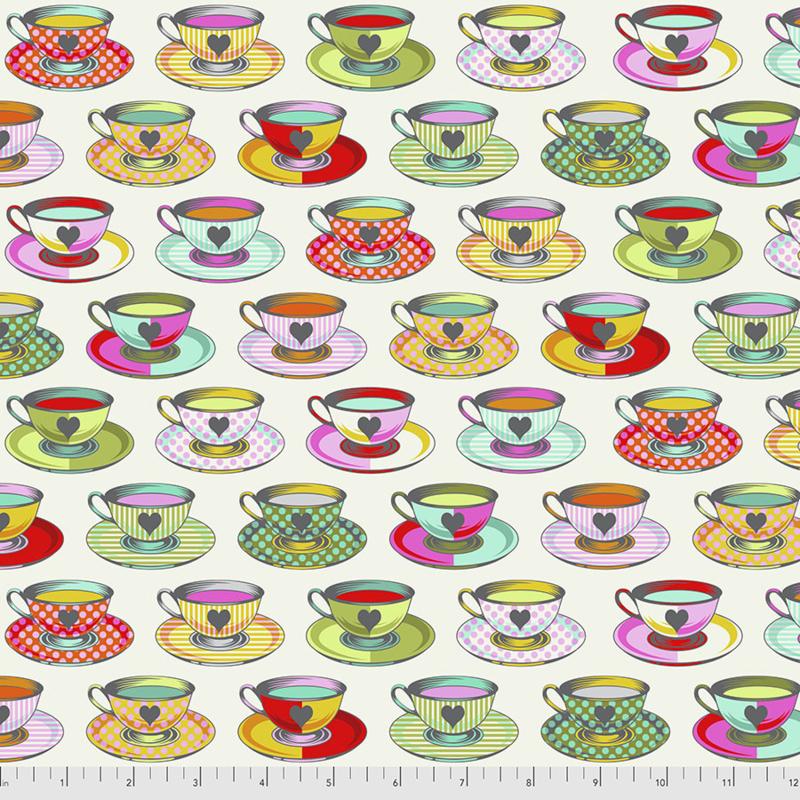 Tula Pink - Curiouser & Curiouser - Tea Time - PWTP163.SUGAR
