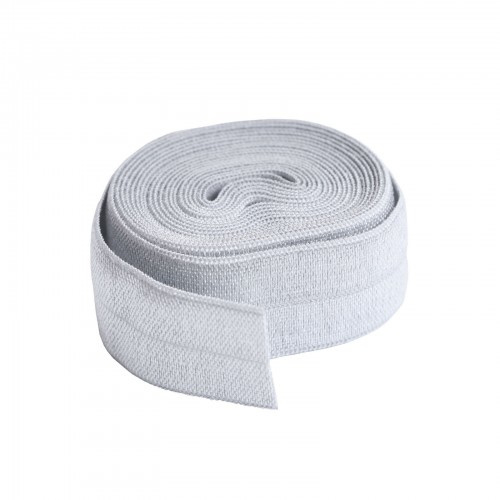 Fold over elastic - 2 yard - Pewter