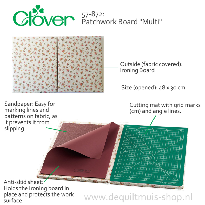 """Patchwork Board """"Multi"""" - Quiltmap - Clover 57-872"""