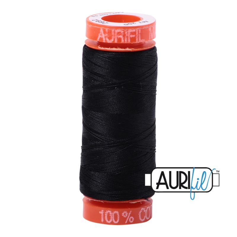 Aurifil Quiltgaren- MAKO 50 - 200 meter - Kleur: 2692 - Black