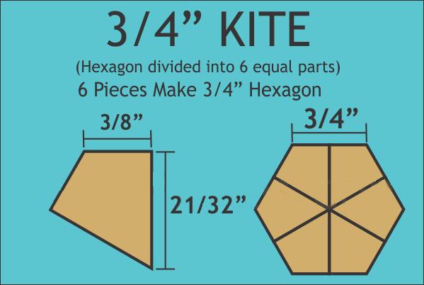 "3/4"" Hex Kites (120 stuks)"