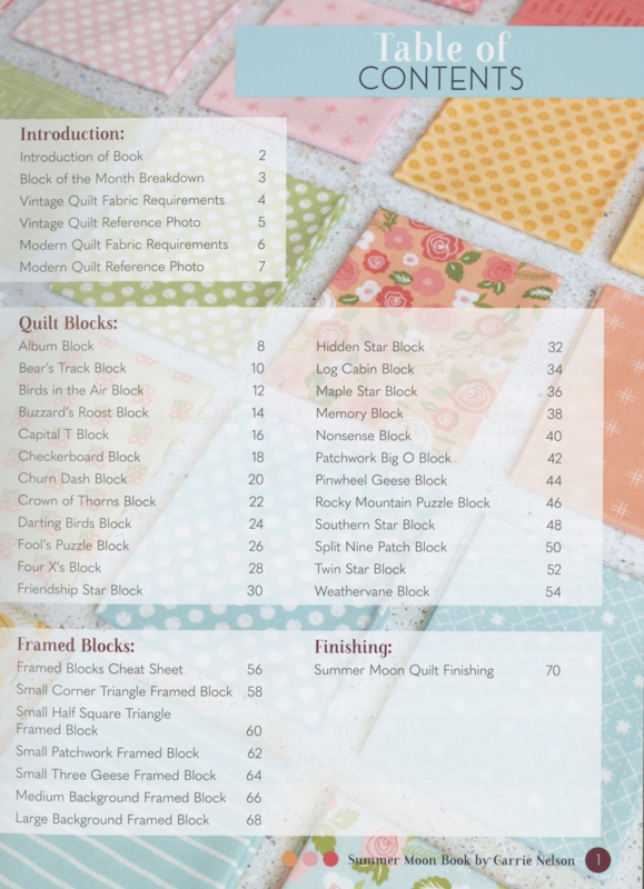 Patroonboek: 'Summer Moon - Block of the Month' by Carrie Nelson