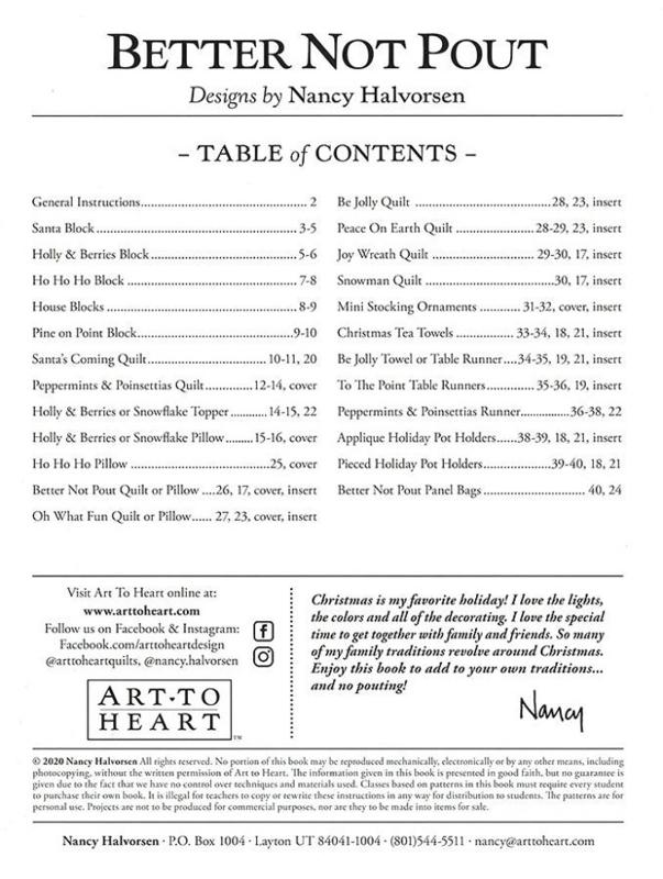 Patroonboek: 'Better Not Pout' by Nancy Halvorsen
