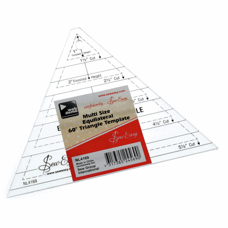 Sew Easy - Multi Size Equilateral 60° Triangle Template