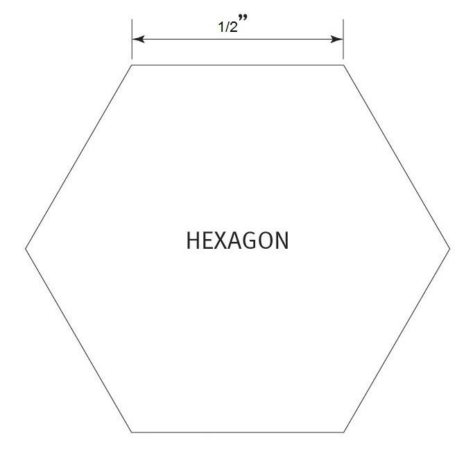 Hexagon 1/2 inch - Pre Cut English Paper Pieces (75 stuks)