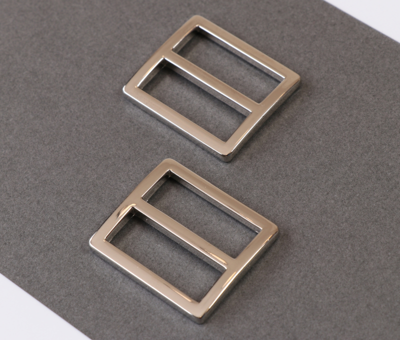 "HAR1-SL-N-TWO - 1"" Wide-Mouth Sliders Nickel - Purse Parts By Annie"