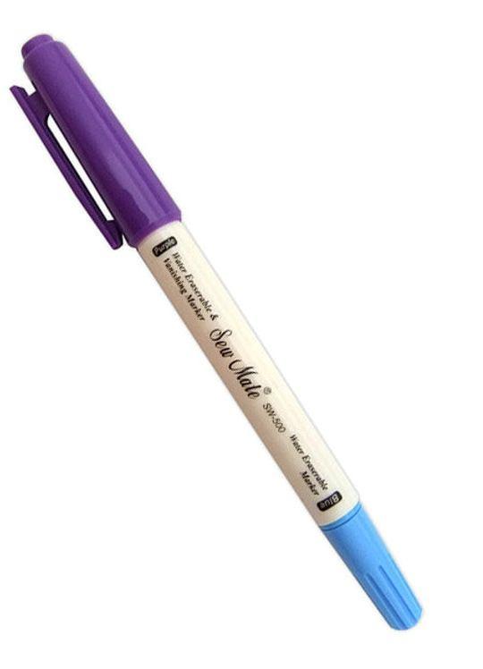 Sew Mate Markeerstift - Water uitwasbaar (Blauw) - Lucht oplosbaar (Paars)