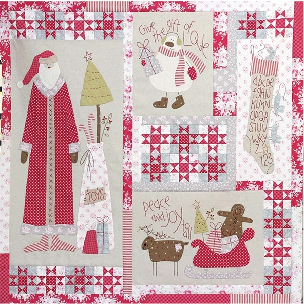 Kerst Quilt Patronen.Christmas Blessings Quilt Patroon The Birdhouse The
