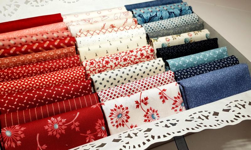 Quiltmuis Fabric Box 'Dutch Vintage' - 30 stoflapjes - Fat Eight