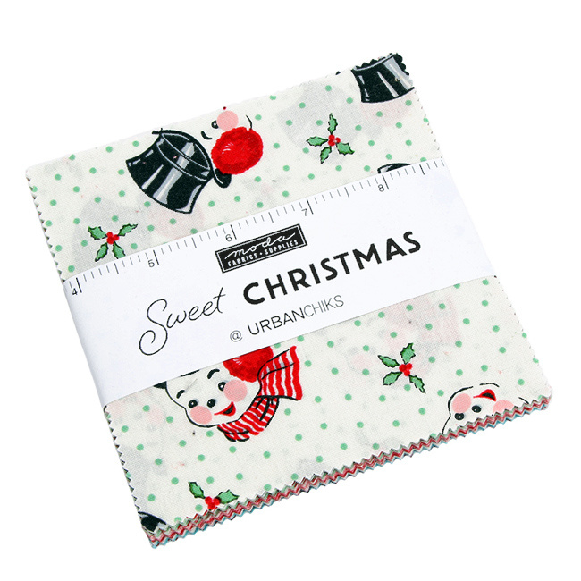 "Moda - 'Sweet Christmas'  by Urban Chiks - 5"" Charm Pack"