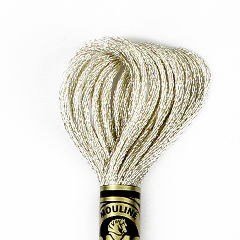 DMC borduurgaren Mouliné - Kleur: E168 - Light Silver (Metallic)