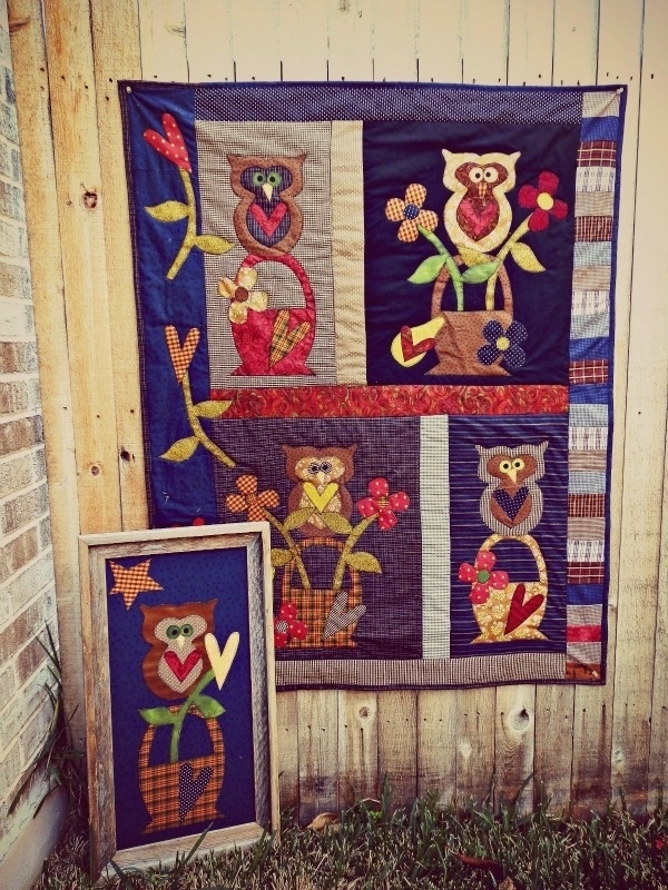 Meme's Quilts - 'Owl Baskets'