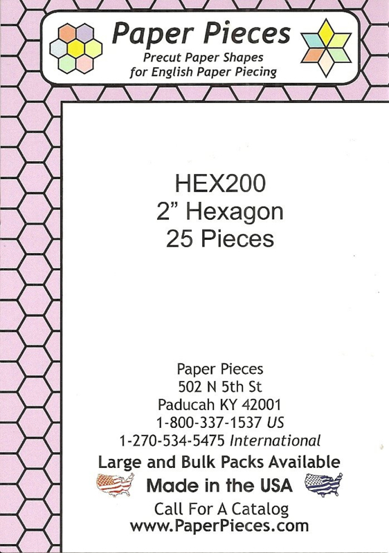Hexagon 2 inch - Pre Cut English Paper Pieces (25 stuks)