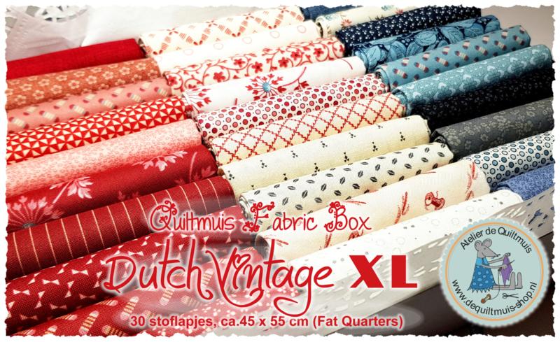 Quiltmuis Fabric Box 'Dutch Vintage XL' - 30 Fat Quarters