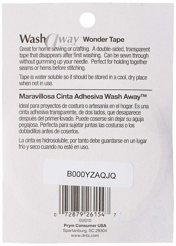 "Wash-Away Wonder Tape - 1/4"" x 10 yards (9,1 meter)"