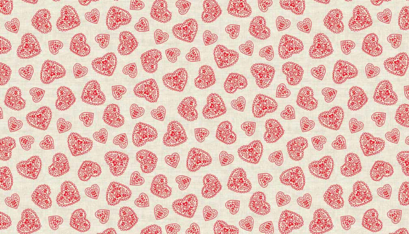 Scandi Christmas - Hearts Red - 1786/R