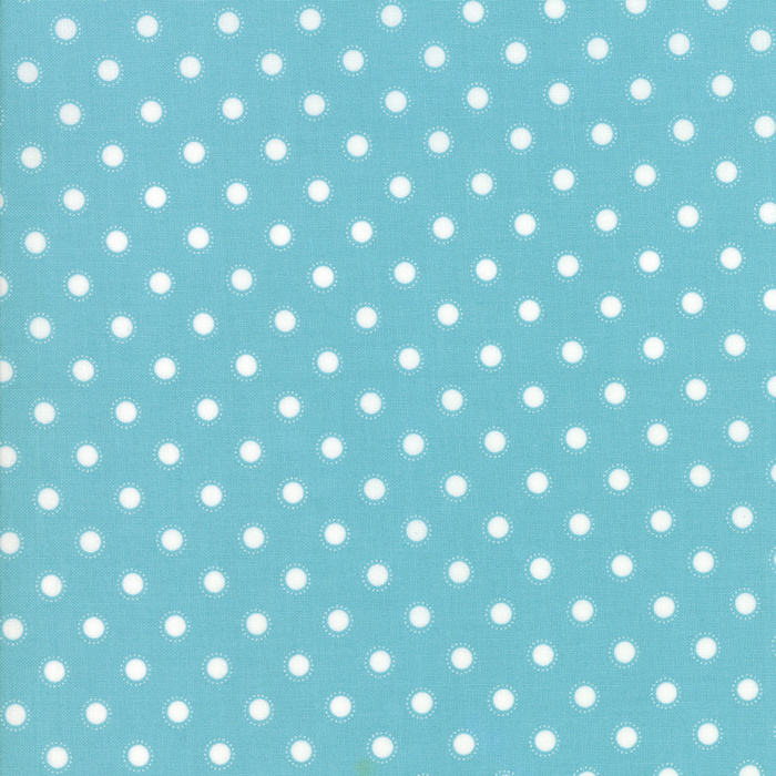 'Bloomington' by Lella Boutique - LAMINATED FABRIC - 5114-16C, Teal - Per halve meter