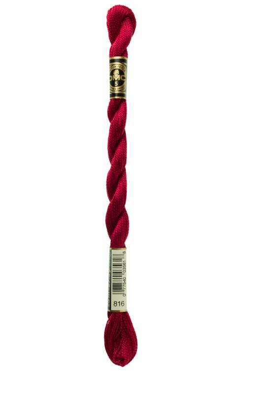 DMC borduurgaren - Perle Cotton Size 5 - Kleur: 816