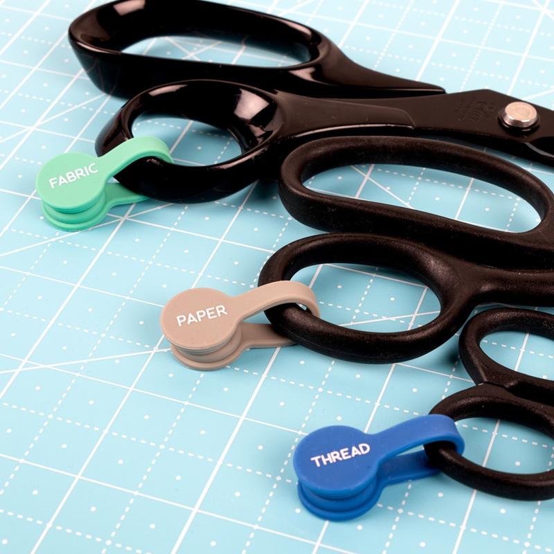 Scissor ID - 3 Pack - Magnetische siliconen clips voor scharen