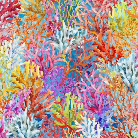 'In The Beginning' by Jason Yenter - CORAL BLUE - 3CAL-1