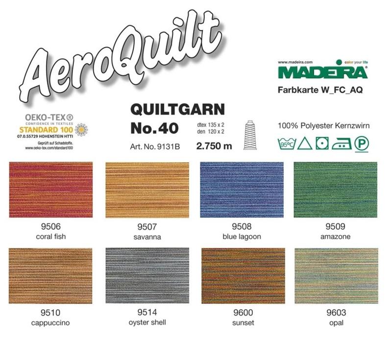Madeira AeroQuilt - Quilt garen - Multicolor - 2750 meter, 40wt