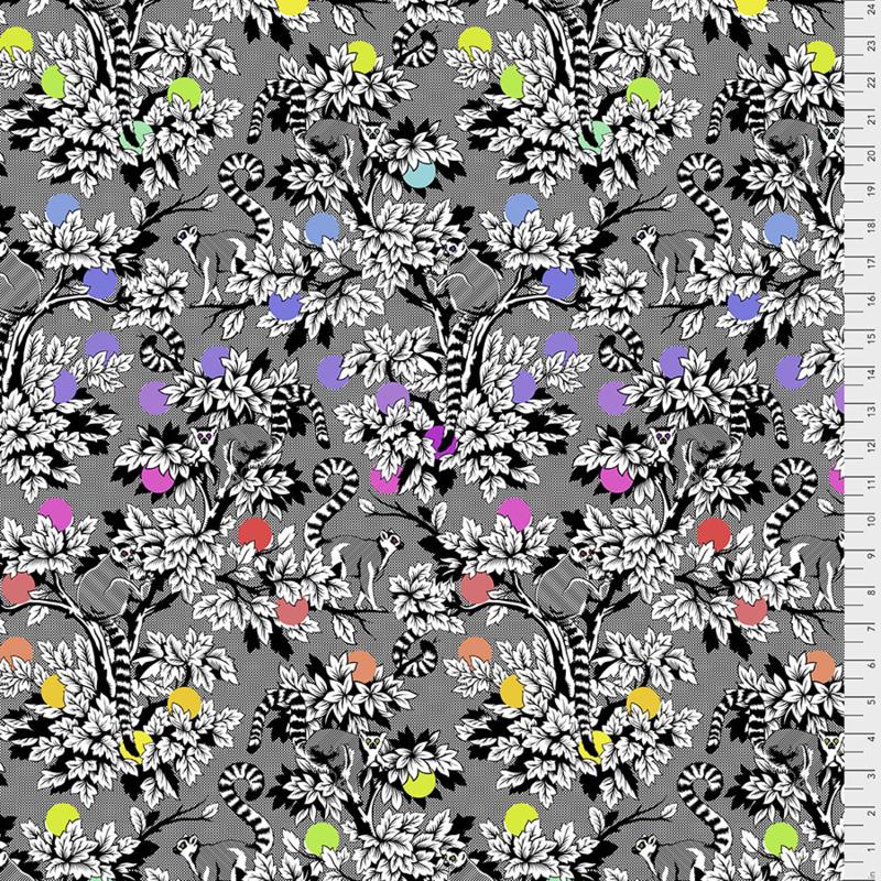 Tula Pink - LINEWORK - Lemur Me Alone - Ink - PWTP154.INK