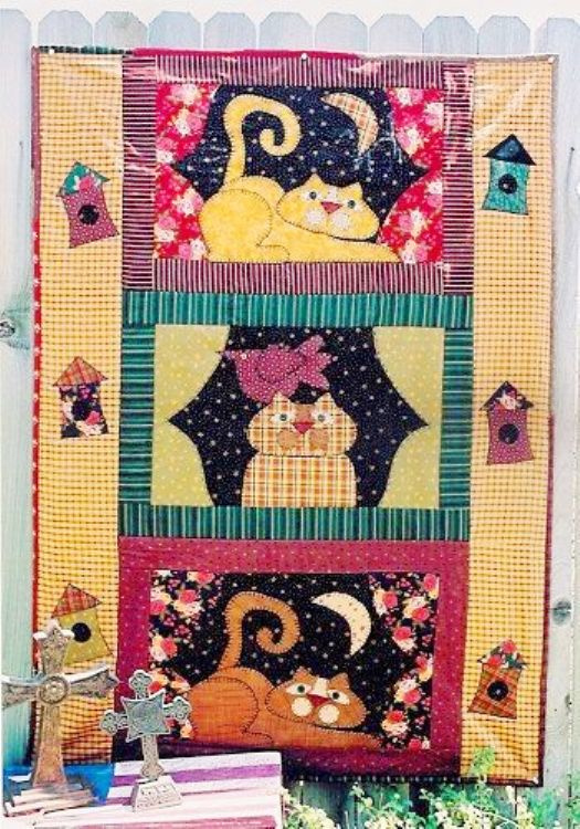 Meme's Quilts - 'Cats in The Window'