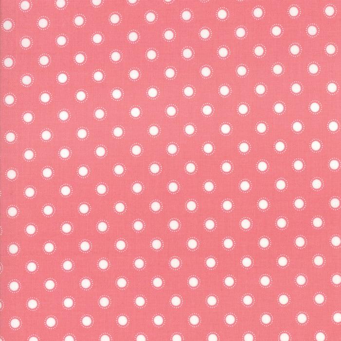 'Bloomington' by Lella Boutique - LAMINATED FABRIC - 5114-14C, Rose - Per halve meter
