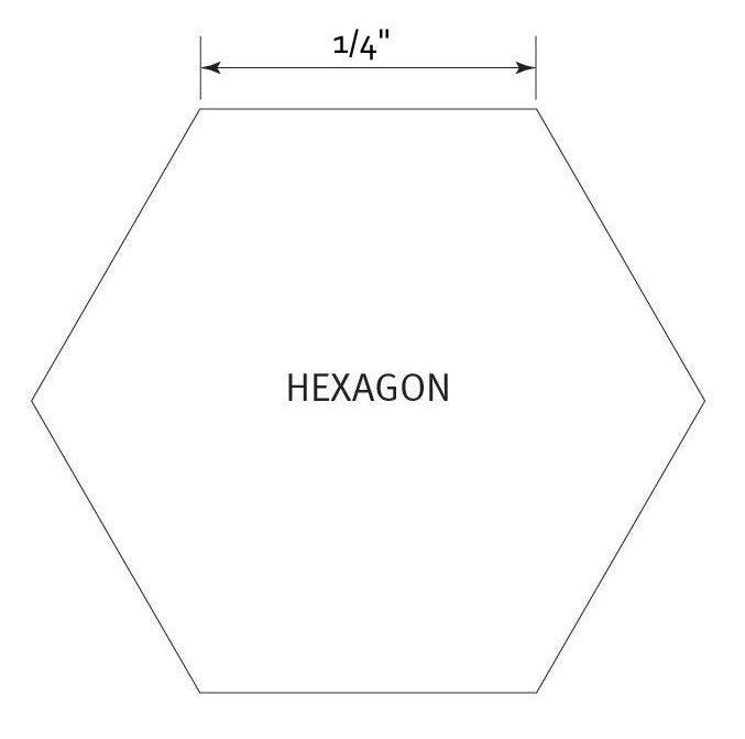 Hexagon 1/4 inch - Pre Cut English Paper Pieces (100 stuks)