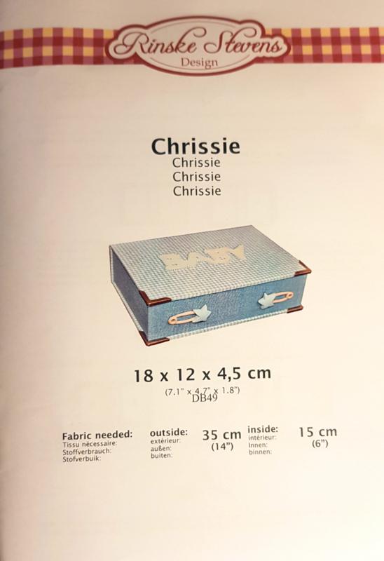 Kartonnage - Opbergdoosje 'Chrissie'