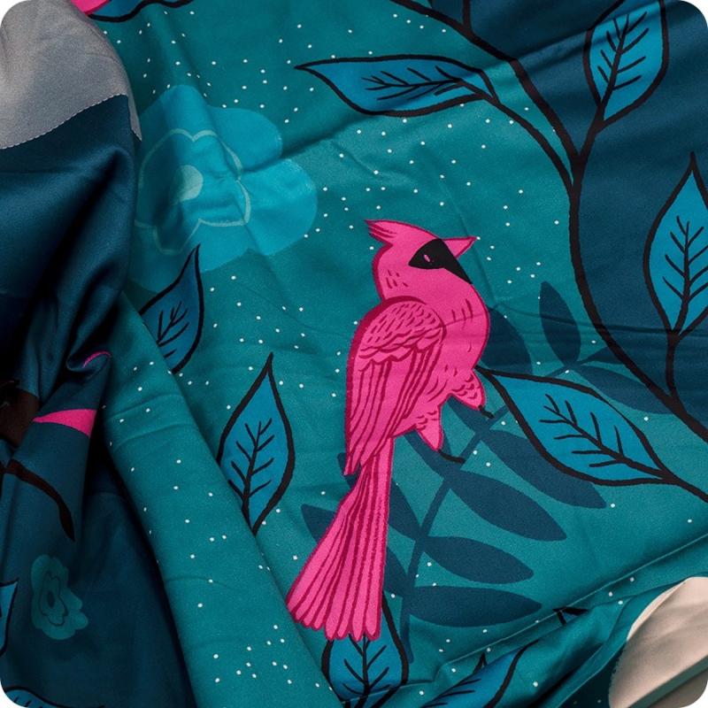 "PANEL: 'MAGIC UNICORN PANEL' by Sarah Watts - 108"" wide - Dekbed+Kussenslopen"