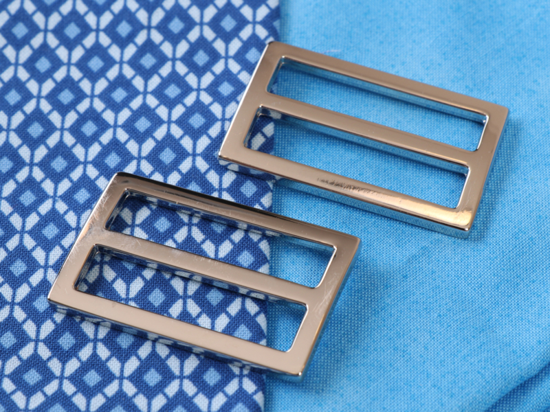 "HAR1.5-SL-N-TWO - 1½"" Wide-Mouth Sliders Nickel - Purse Parts By Annie"
