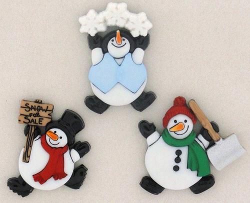 "Knoopjes ""Dress It Up"" - Roly Poly Snowman"
