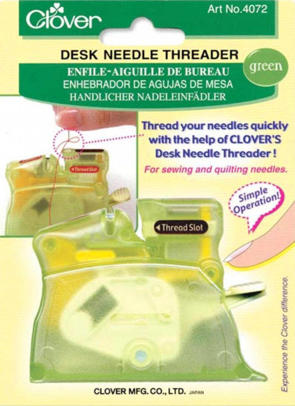 Automatische garen inrijger GREEN - Desk Needle Threader (Clover)