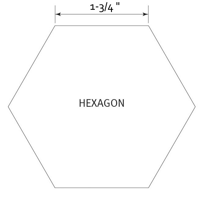 Hexagon 1-3/4 inch - Pre Cut English Paper Pieces (50 stuks)