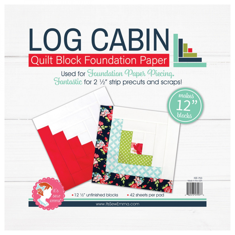 Quilt Block Foundation PaperPad, 12 inch - LOG CABIN