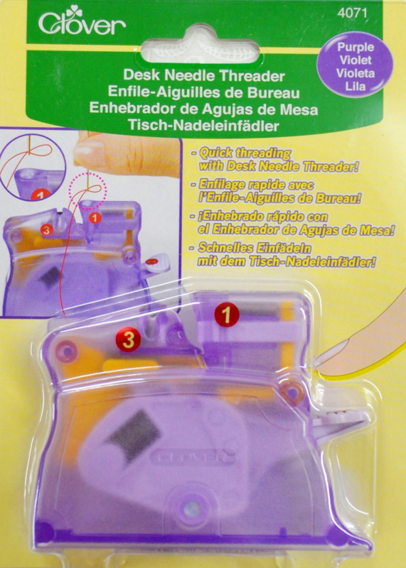 Automatische garen inrijger PURPLE - Desk Needle Threader (Clover)