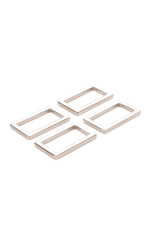 """HAR1-N-SET-3400 - 1"""" Rectangle Rings Nickel - Purse Parts By Annie"""