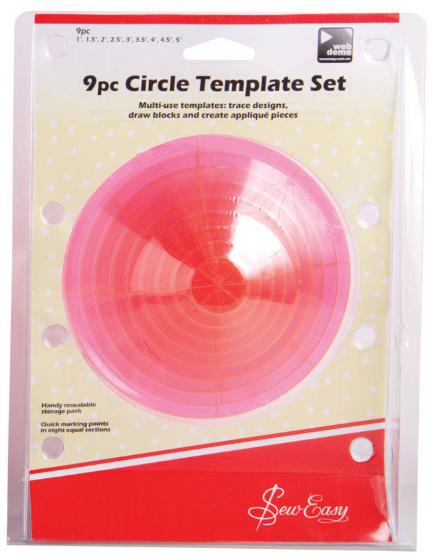 Sew Easy - 9pc Circle Template Set