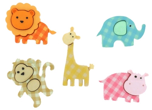 "Knoopjes ""Dress It Up"" - Baby Safari"