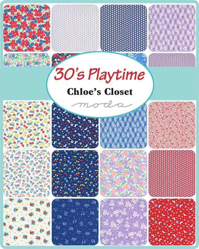 "Moda - '30's Playtime' by Chloe's Closet - 5"" Charm Pack"