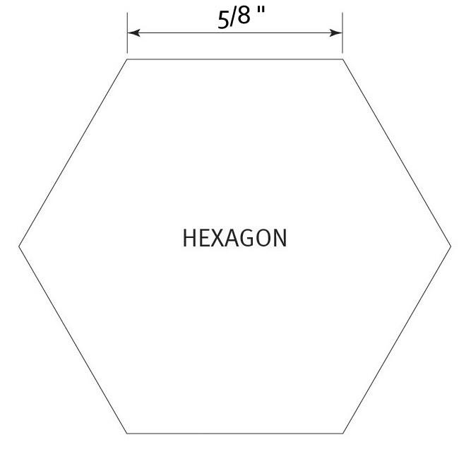 Hexagon 5/8 inch - Pre Cut English Paper Pieces (60 stuks)