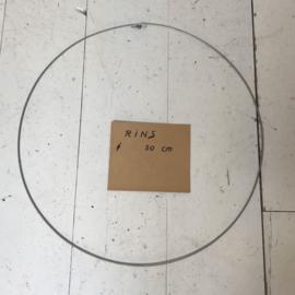 Ring 50 cm open-sluit oog