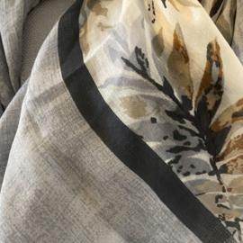 Sjaal met Bladeren print