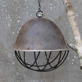 Iron Helmet Lampshade