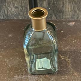 Glasvaasje green/gold