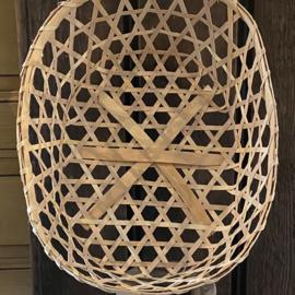 Bamboe mand ovaal L